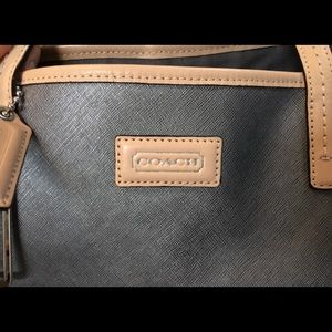COACH PARK METRO SAFFIANO LEATHER TOTE BAG